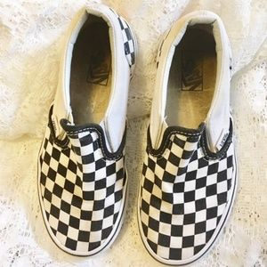 Classic Checkered Vans Little Girls Size 2 (Used)